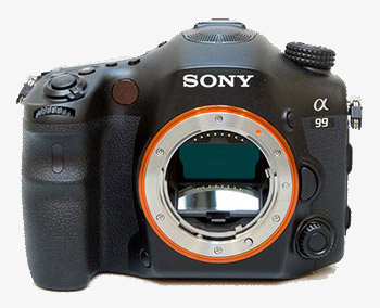 Sony SLT-A99 vista frontale