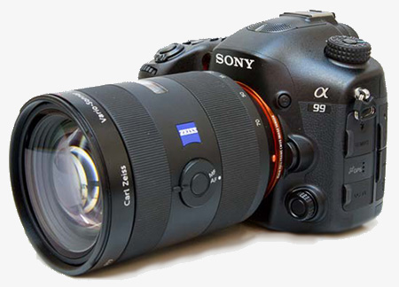 Sony SLT-A99 con zoom 24-70 Zeiss