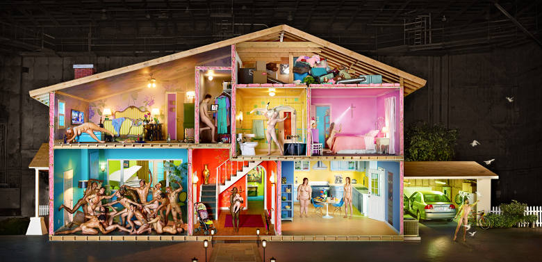 David LaChapelle, Self Portrait as a House | Osservatorio Digitale