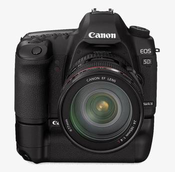 Canon 5D Mark II con vertical grip