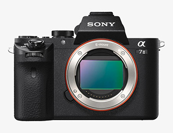 Sony alpha 7 Mark II front